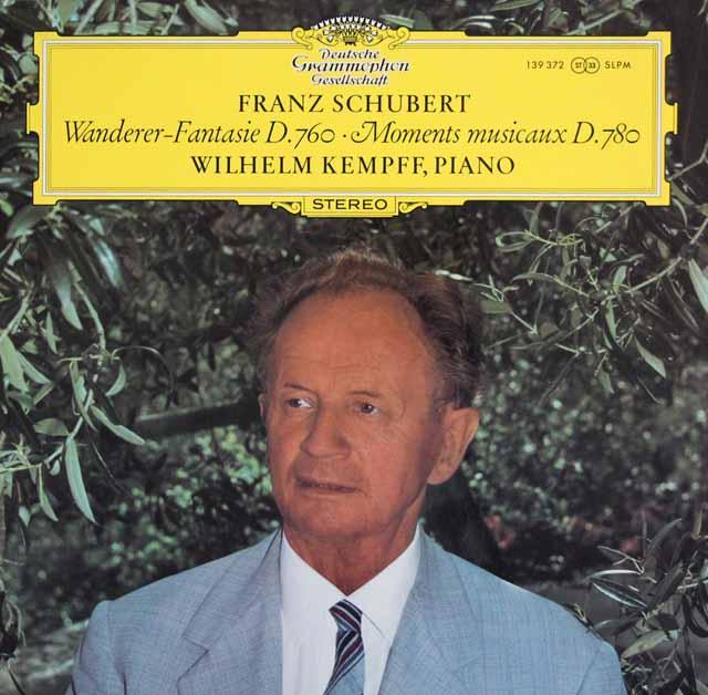 ケンプのシューベルト/さすらい人幻想曲、楽興の時 独DGG 3316 LP レコード