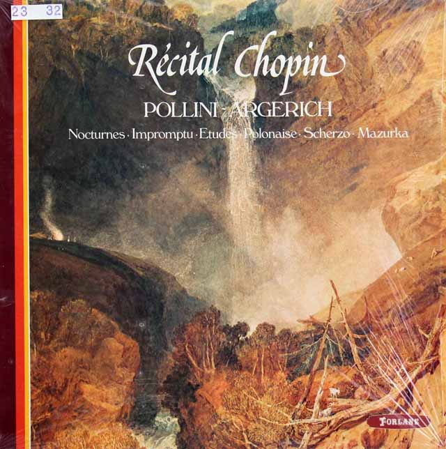 ポリーニ、アルゲリッチのショパン・コンクール・リサイタル 仏FORLANE 3317 LP レコード