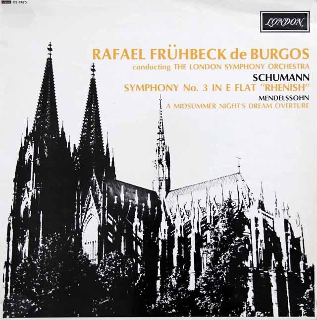 ブルゴスのシューマン/交響曲第3番「ライン」ほか 英LONDON 3317 LP レコード