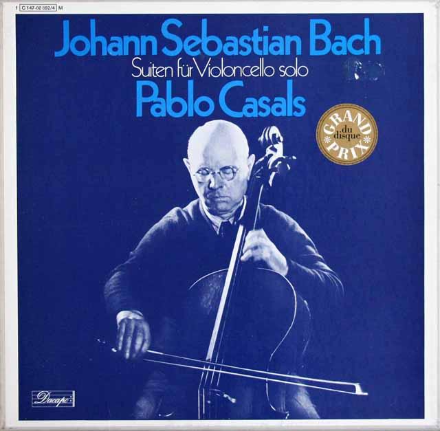 カザルスのバッハ/無伴奏チェロ組曲 独EMI 3317 LP レコード