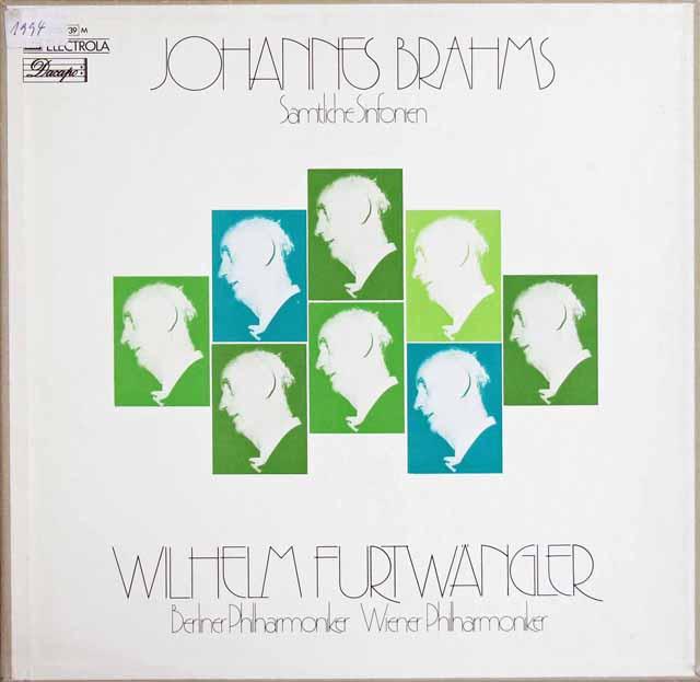 フルトヴェングラーのブラームス/交響曲全集 独EMI 3317 LP レコード