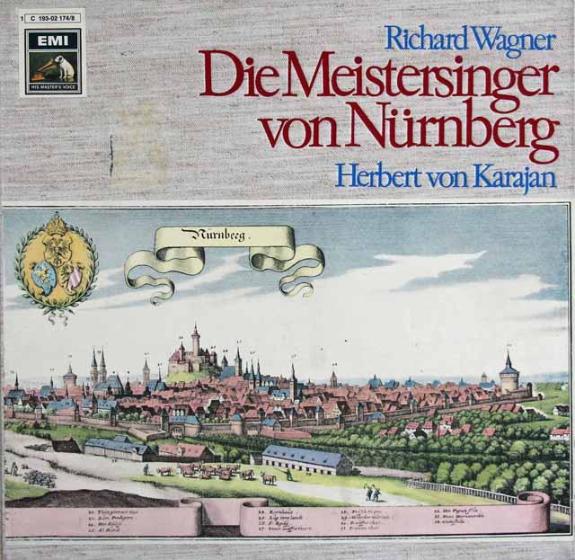 カラヤンのワーグナー/「マイスタージンガー」 独EMI 3317 LP レコード