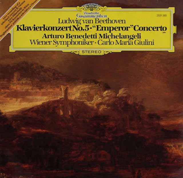 ミケランジェリ&ジュリーニのベートーヴェン/ピアノ協奏曲第5番「皇帝」 独DGG 3318 LP レコード