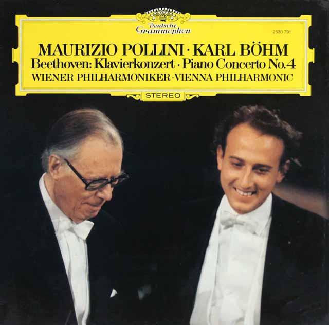 ポリーニ&ベームのベートーヴェン/ピアノ協奏曲第4番 独DGG 3319 LP レコード