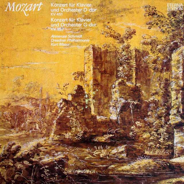 シュミット&マズアのモーツァルト/ピアノ協奏曲第16、17番 独ETERNA 3322 LP レコード