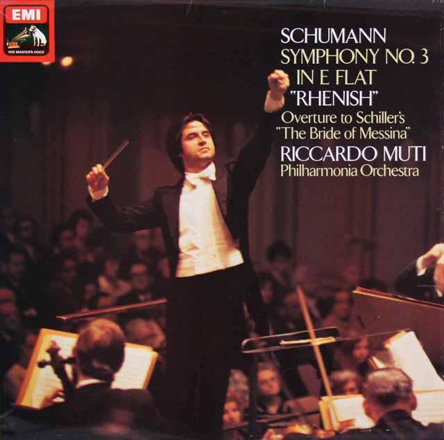 【オリジナル盤】 ムーティのシューマン/交響曲第3番「ライン」 英EMI 3322 LP レコード