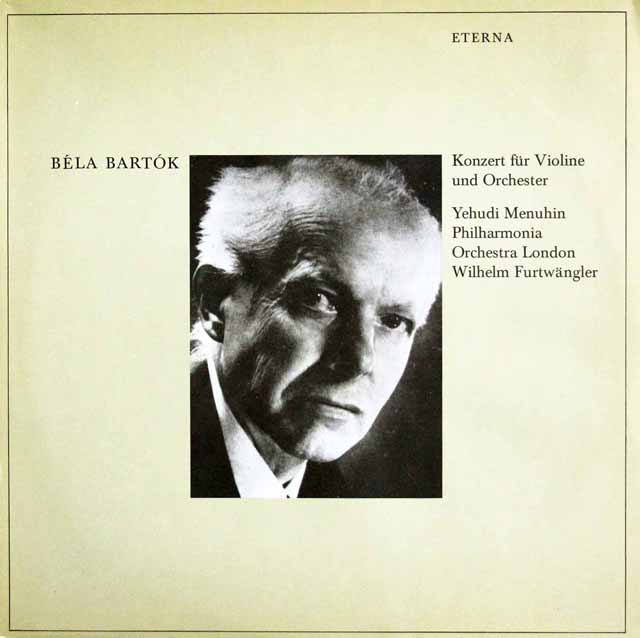 メニューイン&フルトヴェングラーのバルトーク/ヴァイオリン協奏曲第2番 独ETERNA 3323 LP レコード