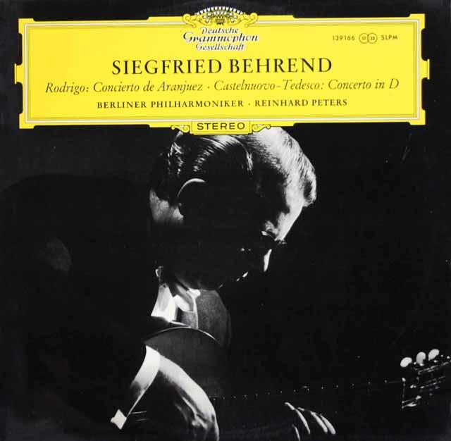ベーレントのロドリーゴ/アランフェス協奏曲ほか 独DGG 3323 LP レコード