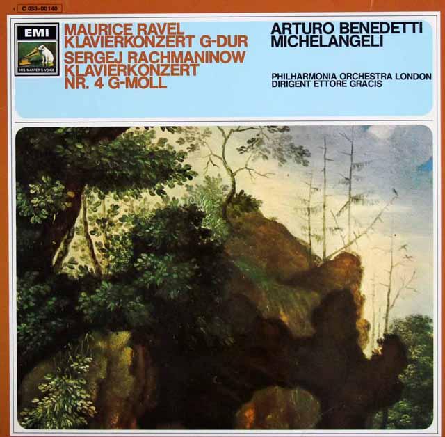 ミケランジェリのラヴェル&ラフマニノフ/ピアノ協奏曲 独EMI 3323 LP レコード