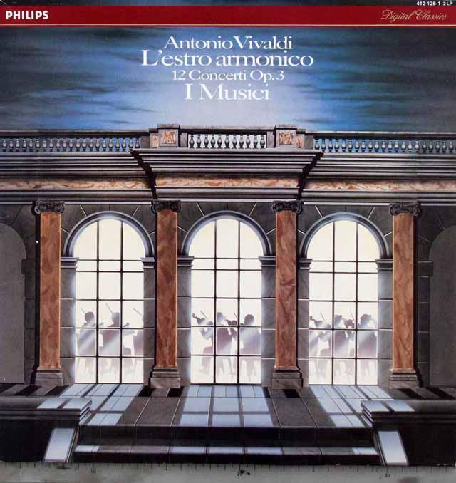 イ・ムジチのヴィヴァルディ/ヴァイオリン協奏曲集「調和の霊感」(全12曲) 蘭PHILIPS 3324 LPレコード
