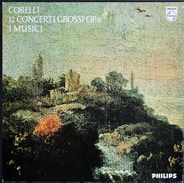 イ・ムジチ合奏団のコレッリ/12の合奏協奏曲 作品6 蘭PHILIPS 3324 LP レコード