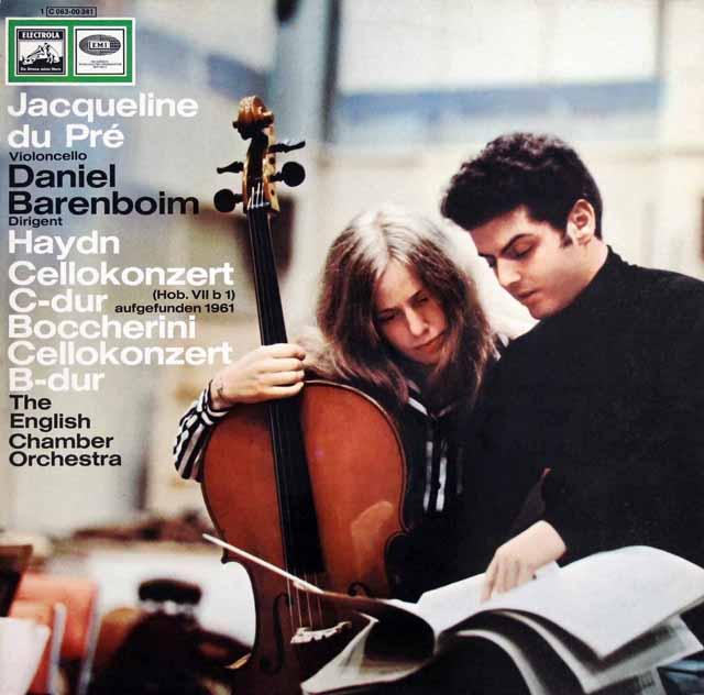 デュ・プレのハイドン、ボッケリーニ/チェロ協奏曲 独EMI 3328 LP レコード