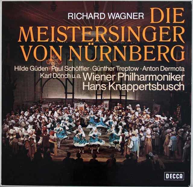 クナッパーツブッシュのワーグナー/「マイスタージンガー」 独DECCA 3328 LP レコード