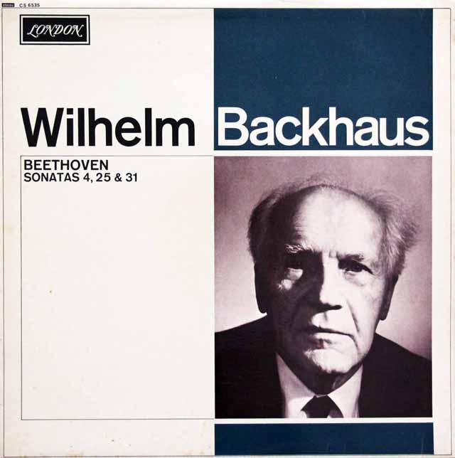 バックハウスのベートーヴェン/ピアノソナタ第4、25、31番 英LONDON 3332 LP レコード