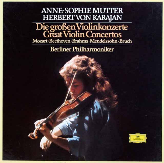 ムター、カラヤンのヴァイオリン協奏曲集 独DGG 3332 LP レコード