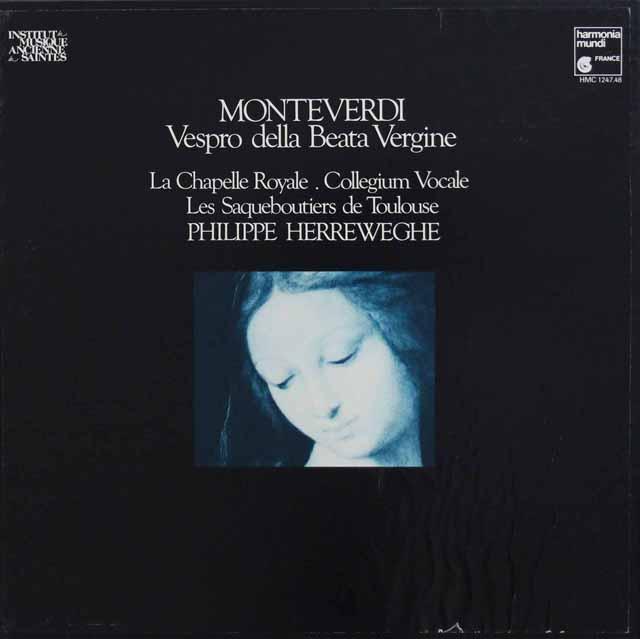 ヘレヴェッヘのモンテヴェルディ/「聖母マリアの夕べの祈り」 仏HM 3332 LP レコード