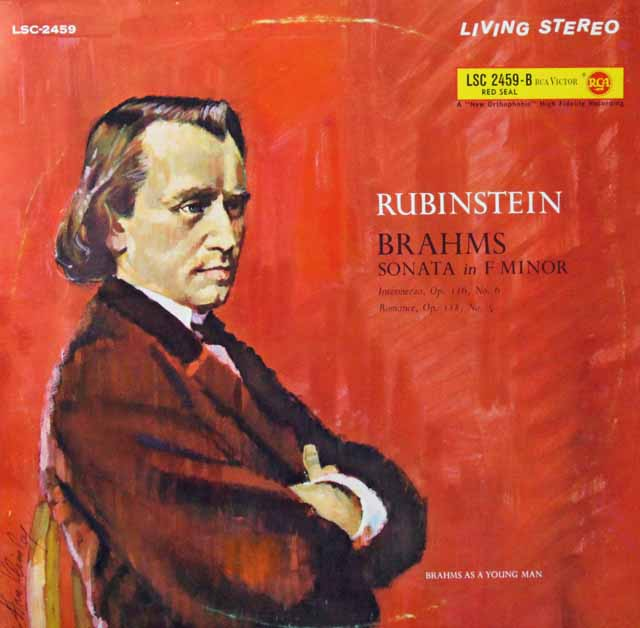 ルービンシュタインのブラームス/ピアノソナタ第3番ほか 独RCA 3298 LP レコード