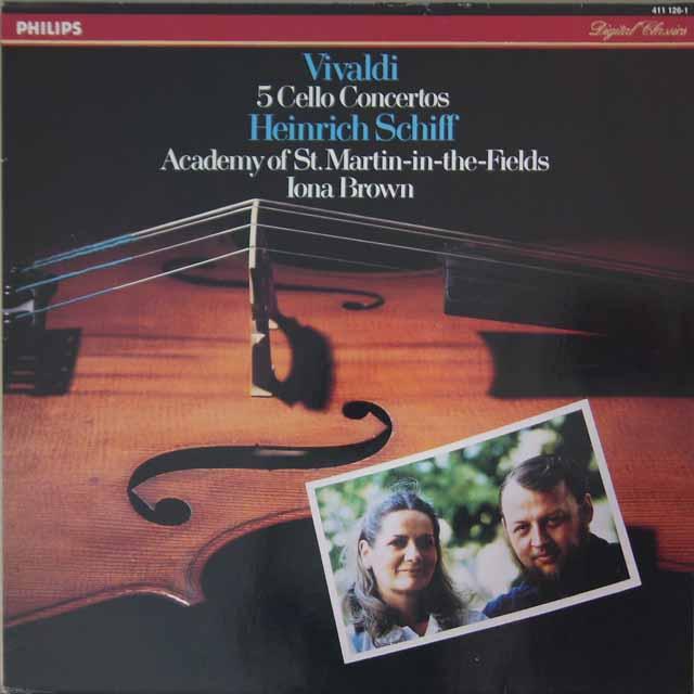 ハインリヒ・シフ&アイオナ・ブラウンのヴィヴァルディ/5つのチェロ協奏曲 蘭PHILIPS 3227 LP レコード