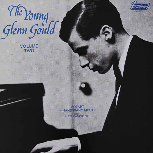 「若きグールド」第2巻 グールド&ゲレーロのモーツァルト/4手のためのピアノ曲ほか カナダturnabout 3034 LP レコード