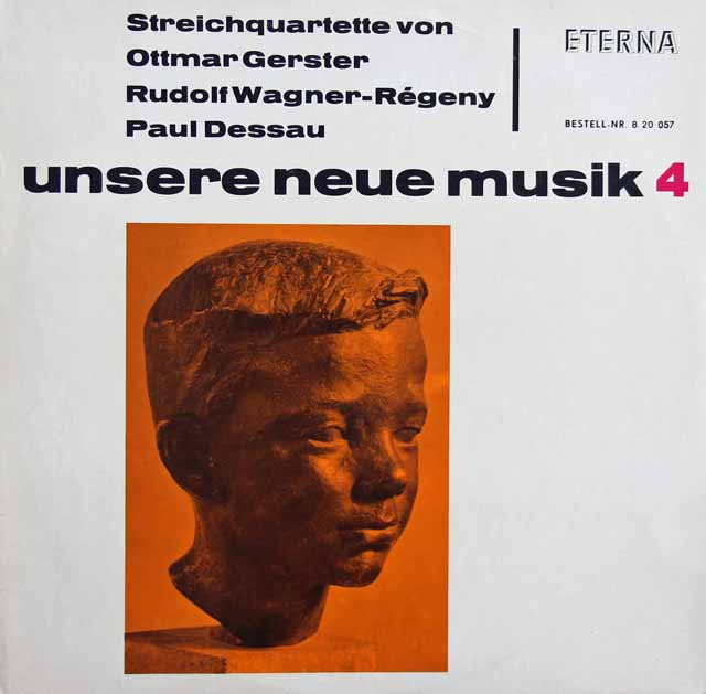 ゲルスター、ヴァーグナー=レゲニー、デッサウ/弦楽四重奏曲集 独ETERNA  3399 LP レコード