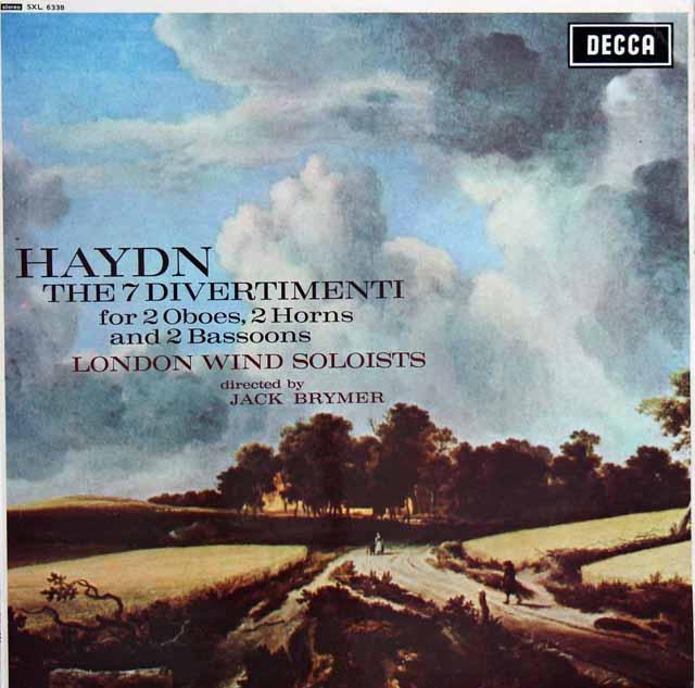 ブライマー&ロンドン管楽ソロイスツのハイドン/ディヴェルティメント集 英DECCA  3399 LP レコード