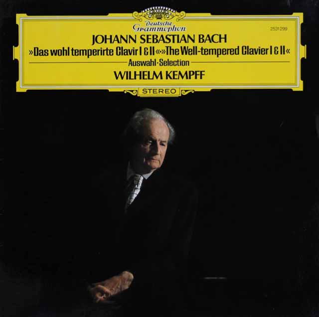ケンプのバッハ/平均律クラヴィーア曲集第1&2巻より 独DGG  3285 LP レコード