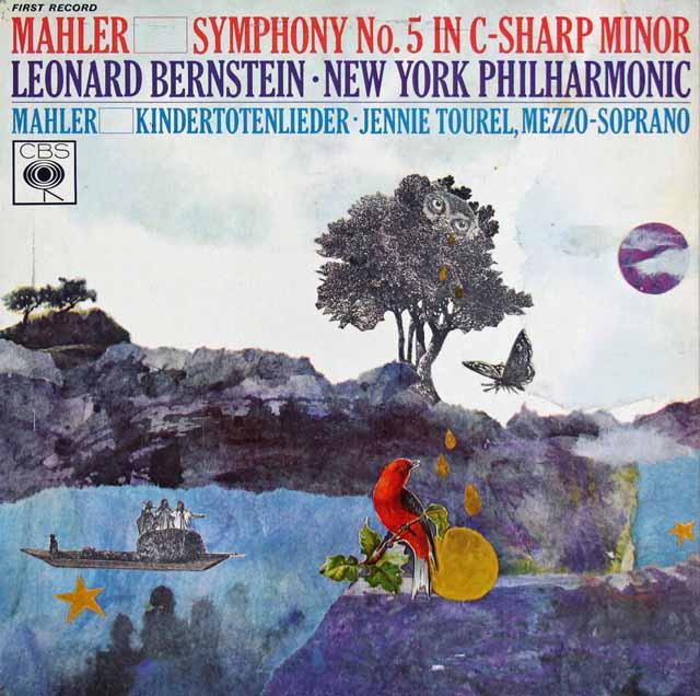 【直筆サイン入り】 バーンスタインのマーラー/交響曲第5番ほか 英CBS 3399 LP レコード