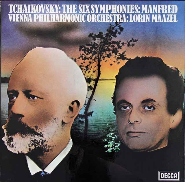 マゼールのチャイコフスキー/交響曲全集(第1~6番&マンフレッド交響曲) 英DECCA 3034 LP レコード