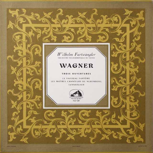 フルトヴェングラーのワーグナー/3つの序曲集  仏EMI(VSM) モノラル 3332 LP レコード