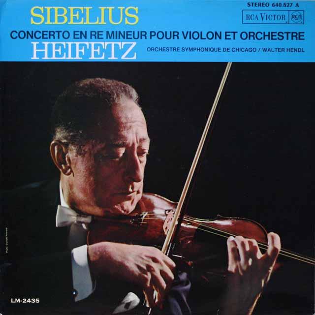 ハイフェッツのシベリウス/ヴァイオリン協奏曲ニ短調 仏RCA 2617 LP レコード