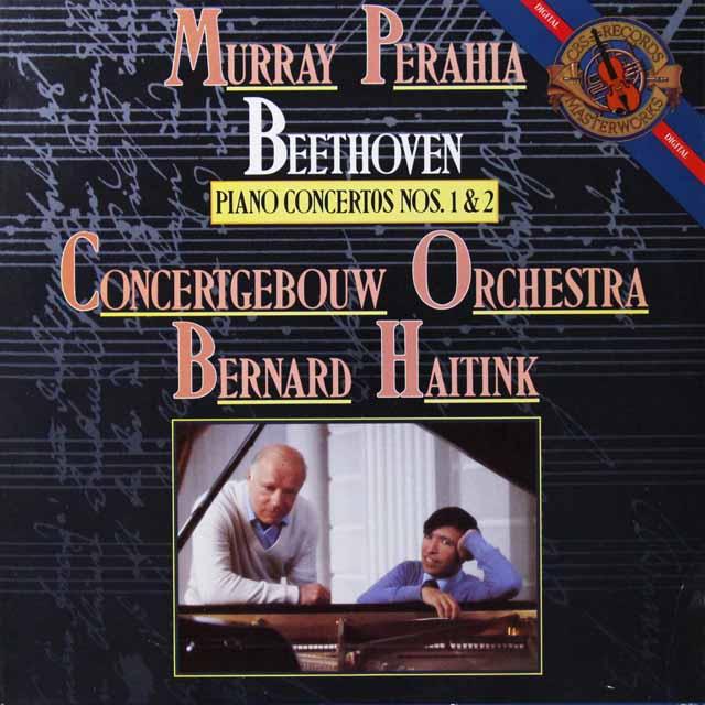 ペライア&ハイティンクのベートーヴェン/ピアノ協奏曲第1&2番 蘭CBS 2701 LP レコード