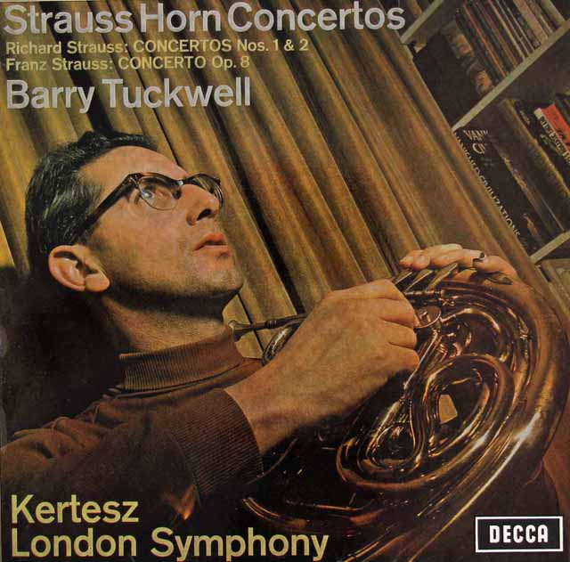 タックウェル&ケルテスのR.シュトラウス/ホルン協奏曲集 独DECCA 3295 LP レコード