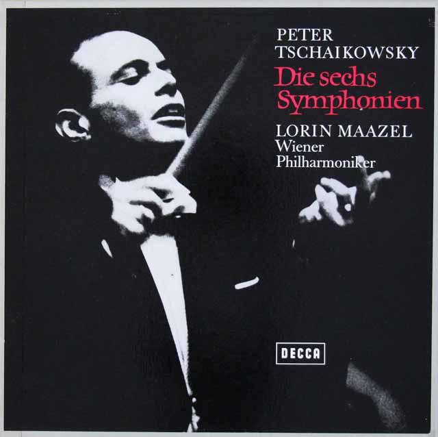 【直筆サイン入り】 マゼールのチャイコフスキー/交響曲全集 独DECCA 3036 LP レコード