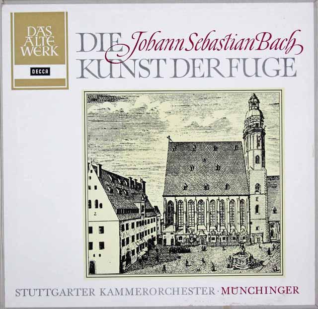ミュンヒンガーのバッハ/「フーガの技法」 独DECCA 3035 LP レコード