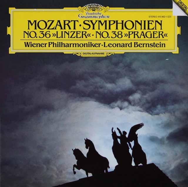 バーンスタインのモーツァルト/交響曲第36番「リンツ」&第38番「プラハ」 独DGG 2906 LP レコード