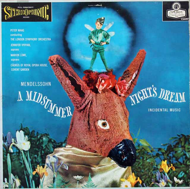 【ブルー・バック・ジャケット】 マークのメンデルスゾーン/「真夏の夜の夢」全曲 英LONDON 3025 LP レコード