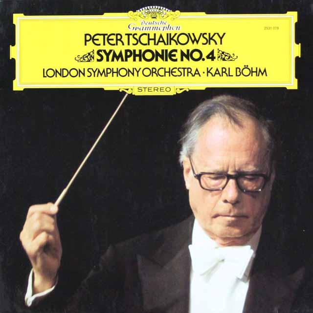 ベームのチャイコフスキー/交響曲第4番 独DGG 3398 LP レコード