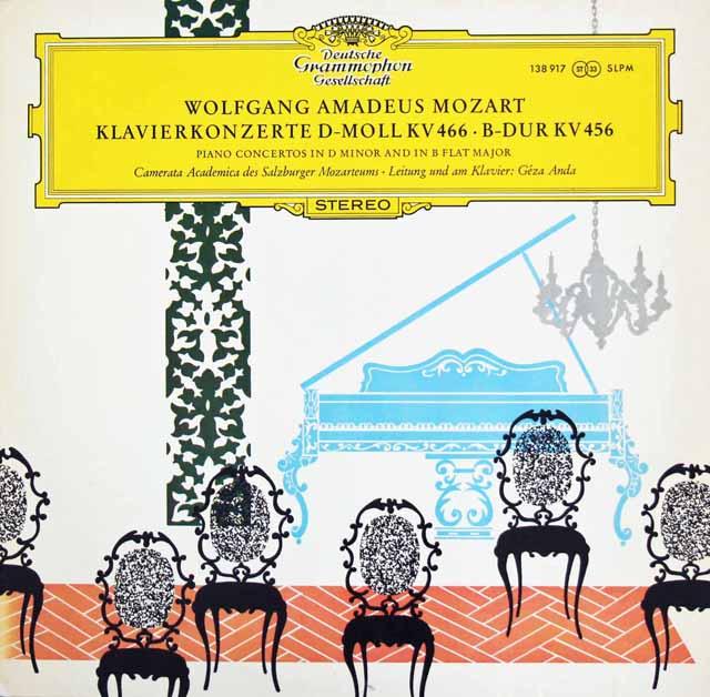 アンダのモーツァルト/ピアノ協奏曲第18&20番 独DGG 3398 LP レコード