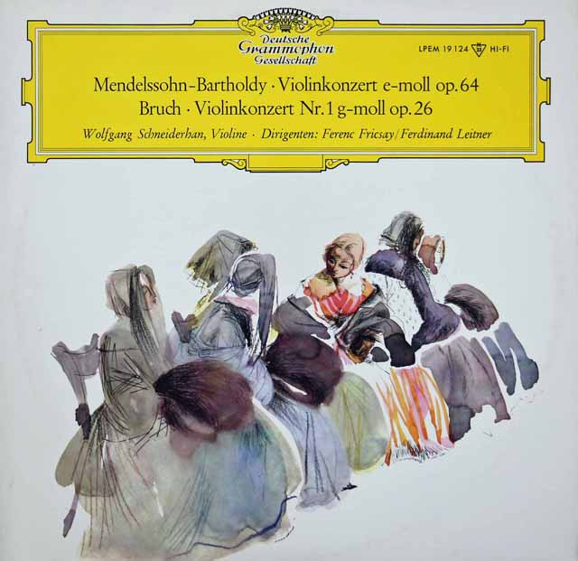 シュナイダーハンのメンデルスゾーン&ブルッフ/ヴァイオリン協奏曲集 独DGG 3398 LP レコード