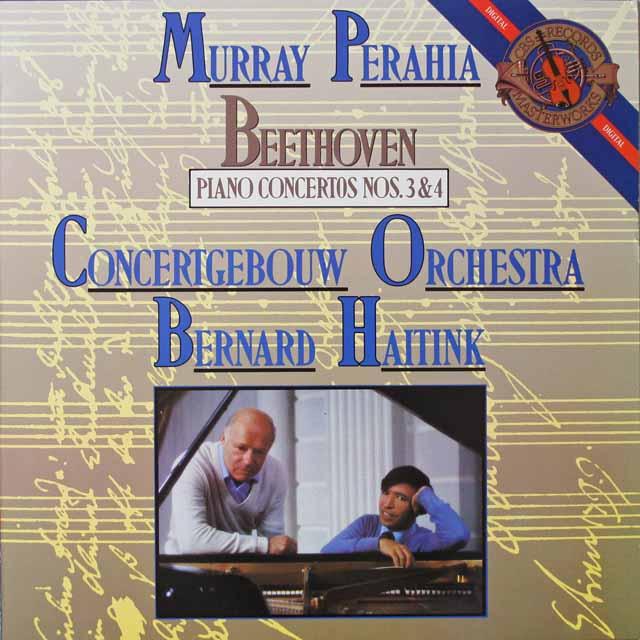 ペライア&ハイティンクのベートーヴェン/ピアノ協奏曲第3&4番 蘭CBS  2620 LP レコード