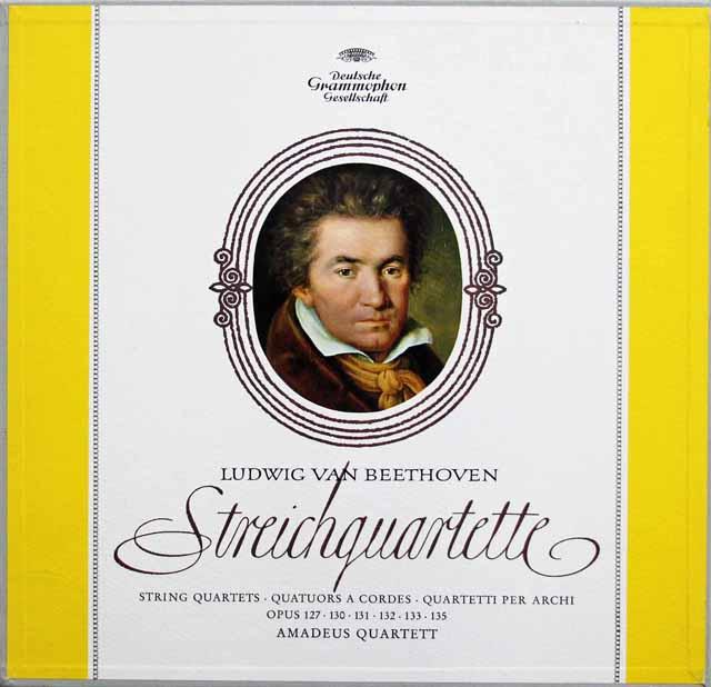 【ドイツ最初期盤】 アマデウス四重奏団のベートーヴェン/後期弦楽四重奏曲集 独DGG 3010 LP レコード