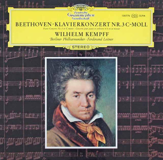ケンプのベートーヴェン/ピアノ協奏曲第3番 独DGG 3283 LP レコード