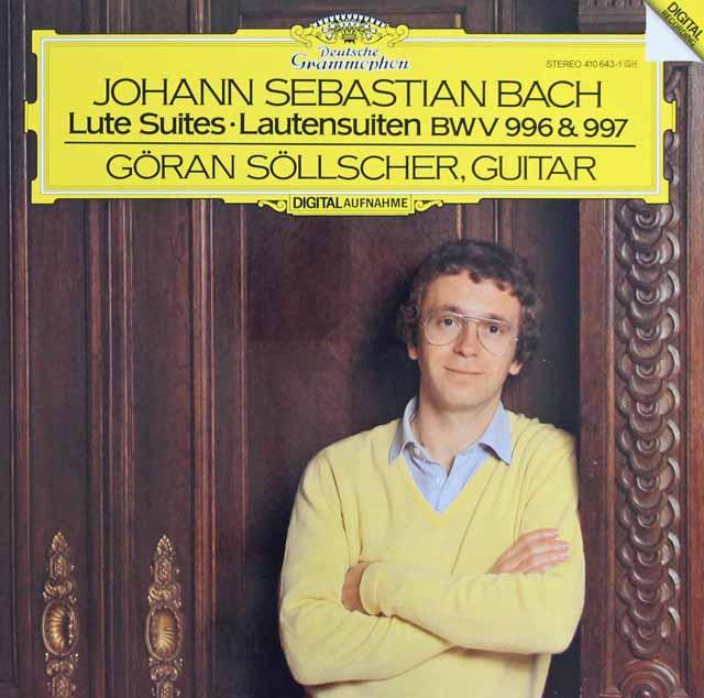 セルシェルのバッハ/リュートのための音楽集 独DGG 3283 LP レコード