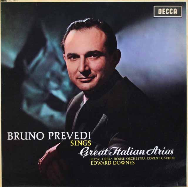 【オリジナル盤】 プレヴェディのグレート・イタリアン・アリア集 英DECCA 3283 LP レコード
