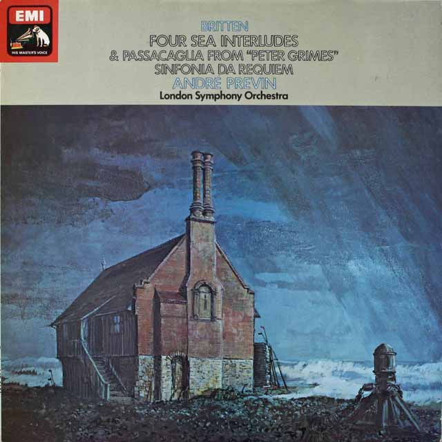 【オリジナル盤】 プレヴィンのブリテン/「ピーター・グライムズ」からの「四つの間奏曲」ほか 英EMI 3231