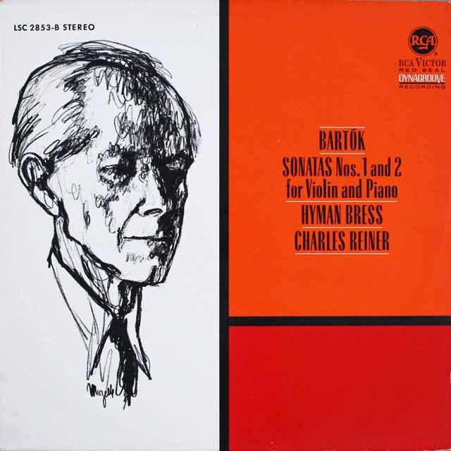 ブレスのバルトーク/ヴァイオリンソナタ集 独RCA 3231 LP レコード