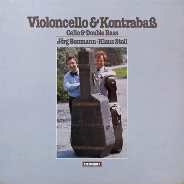 バウマン&シュトゥールのチェロとコントラバスのための作品集 独TELEFUNKEN   2710 LP レコード