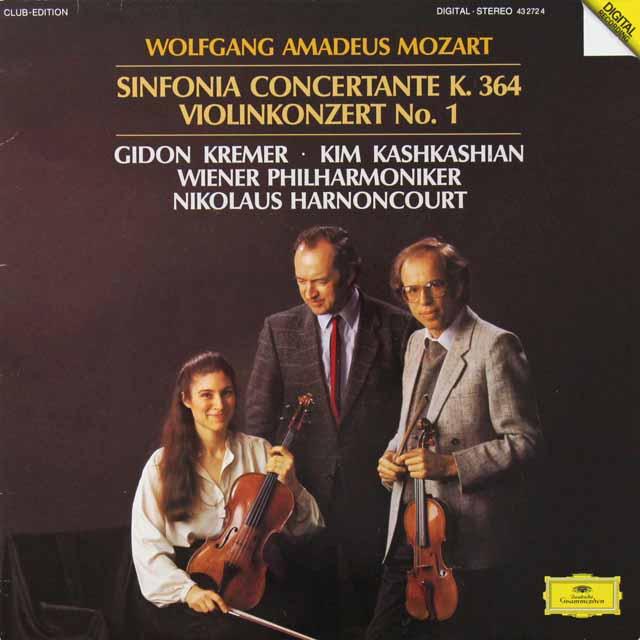 クレーメル&アーノンクールらのモーツァルト/ヴァイオリン協奏曲第1番ほか 独DGG   3292 LP レコード