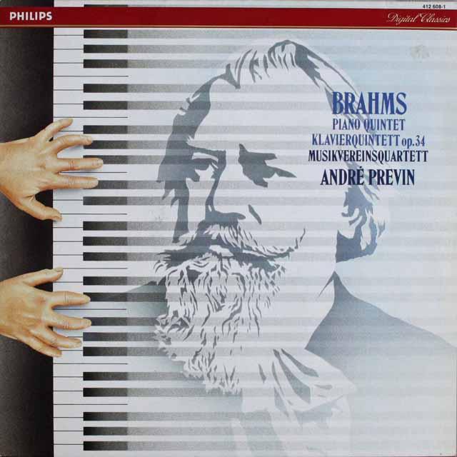 プレヴィン&ムジークフェライン四重奏団のブラームス/ピアノ五重奏曲 蘭PHILIPS 3303 LP レコード
