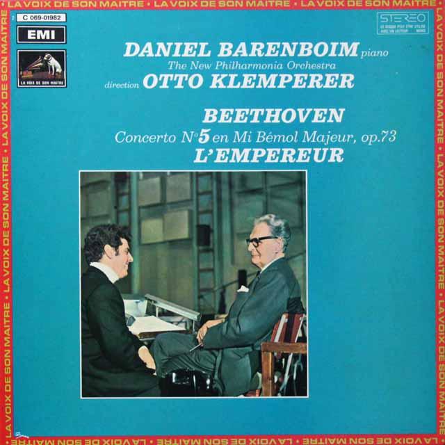 クレンペラー&バレンボイムのベートーヴェン/ピアノ協奏曲第5番「皇帝」 仏EMI(VSM)   2713 LP レコード